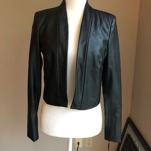 NWT Calvin Klein Faux Leather Blazer